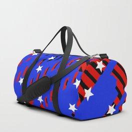 white stars Duffle Bag
