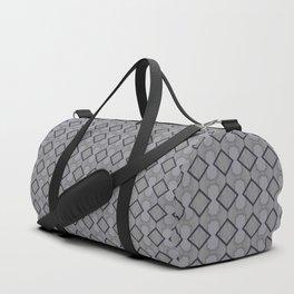 Modern Grey Triangle Geometrical Pattern Duffle Bag