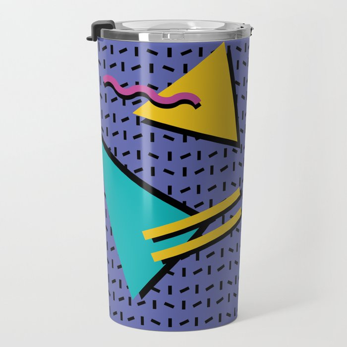 Memphis Pattern 9 - 90s - Retro Travel Mug