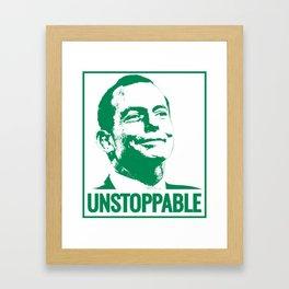 Tony Abbot. Man. Politician. Legend. Framed Art Print