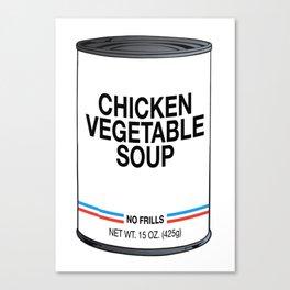 30 Chicken Vegetable Canvas Print