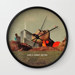Love Is Always Waiting Wall Clock