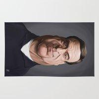 john snow Area & Throw Rugs featuring Celebrity Sunday ~ John Goodman by rob art | illustration