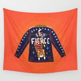 Stay Fierce Tiger Jacket Wall Tapestry