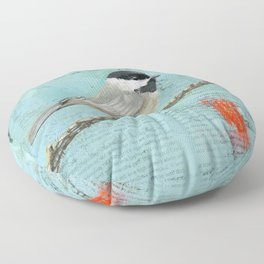 chickadee Floor Pillow