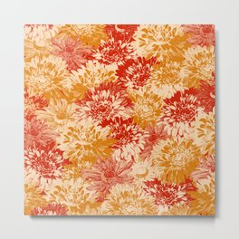 marguerites and chrysanthemums in red and yellow Metal Print
