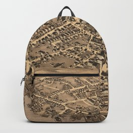 Vintage Pictorial Map of New London CT (1876) Backpack