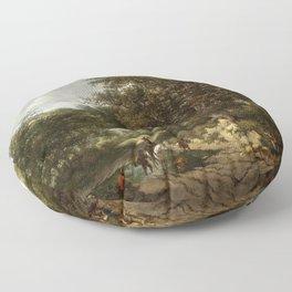 Jacob van Ruisdael - The Great Oak Floor Pillow