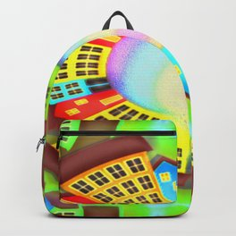 Little round dream-town Backpack