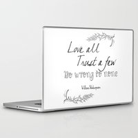 shakespeare Laptop & iPad Skins featuring Shakespeare Quote by Pati Designs & Photography