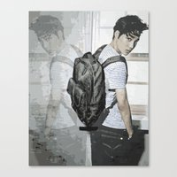 exo Canvas Prints featuring Kai EXO by Axel Senpai