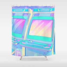 Pastel Glitch Shower Curtain