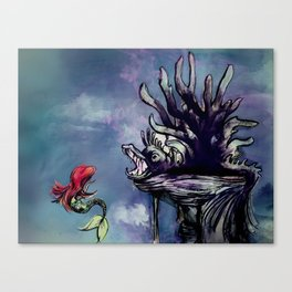 lair of the witch Canvas Print