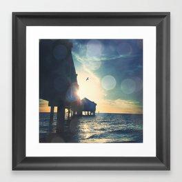 Clearwater Pier Framed Art Print