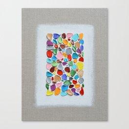 Mosaic Polka Daubs Canvas Print