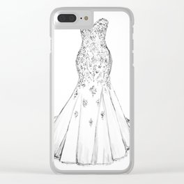 Wedding dress drawing, wedding dress lace, fashion, Wedding dress Clear iPhone Case