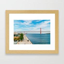 25 de Abril Bridge In Lisbon, Wall Art Print, Modern Architecture Art, Poster Decor, Large Printable Framed Art Print