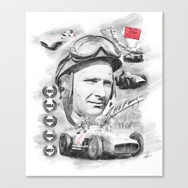 Juan Manuel Fangio, Portrait Canvas Print