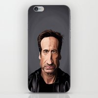 celebrity iPhone & iPod Skins featuring Celebrity Sunday ~ David Duchovny by rob art | illustration