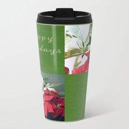 Mixed color Poinsettias 3 Happy Holidays Q5F1 Travel Mug