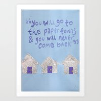 paper towns Art Prints featuring paper towns  by cgold