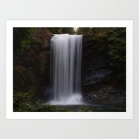 Ammonite Falls Art Print