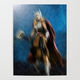 Thor, the Goddess of Thunder Poster