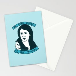 BE MORE CYNICAL AND SELF-ABSORBED Stationery Cards