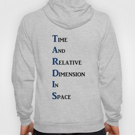 Tardis Doctor Who Time and Relative Dimension in Space Hoody