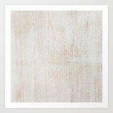 White Wood Art Print