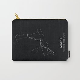 Maine State Road Map Carry-All Pouch