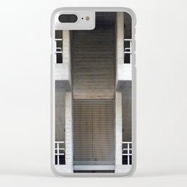 concrete staircases and walkways Clear iPhone Case