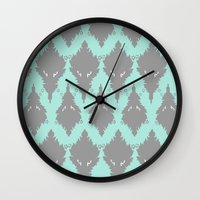 persian Wall Clocks featuring Persian Textile by Nahal
