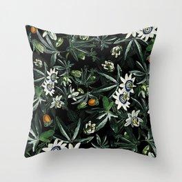 EXOTIC GARDEN - NIGHT XI Throw Pillow