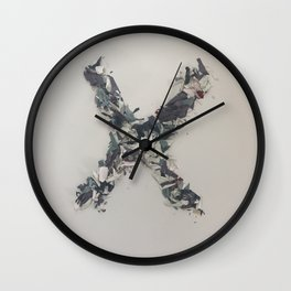 Letter X in Paint Wall Clock