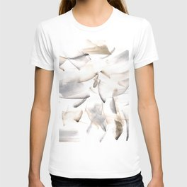 180630 Grey Black Brown Neutral Abstract Watercolour 10 T-shirt