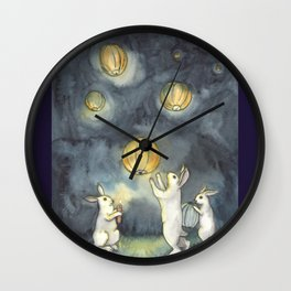 Sky Lanterns Wall Clock