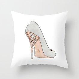 Grey Shoe Throw Pillow