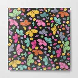 Summer colorful flowers abstract illustration black background Metal Print