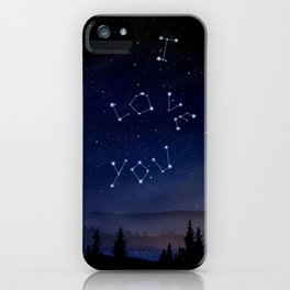I love You Stars Design iPhone Case
