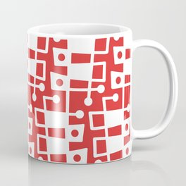 Mid Century Modern Abstract 213 Red Coffee Mug