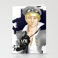 yaoi Stationery Cards featuring Yaoi by Noemí duVallon