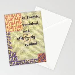 The Weather Today... is Frantic, Panicked, and Slightly Rushed Stationery Cards