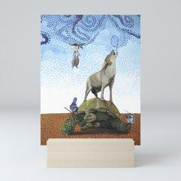 Coyote and Tortoise Magic Mini Art Print