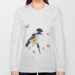 Christmas Chickadee by Teresa Thompson Long Sleeve T-shirt