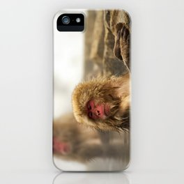 Snow Monkeys on Hot Spring iPhone Case
