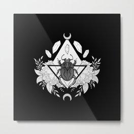 Scarab Queen // Black & White Metal Print
