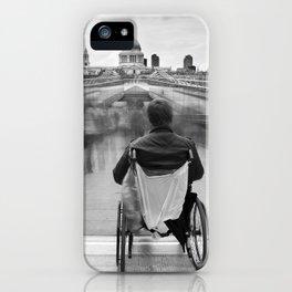 Invisible, Millennium Bridge, London iPhone Case