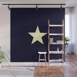 Star  Gold  Black Wall Mural