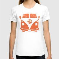 vw bus T-shirts featuring VW Bus by Burnish and Press
